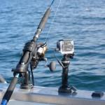 Stangholder og extender med action-cam